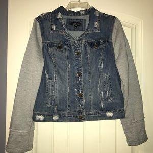 Rue 21 Sz. xl jean jacket semi distressed.